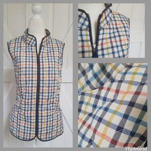 Talbots Gingham Puffer Vest